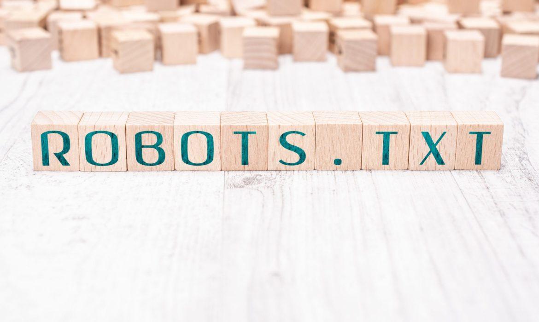nápis robots.txt z kociek