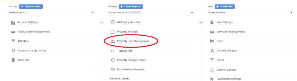 Google Analytics Property User Management