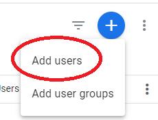 pridať používateľa